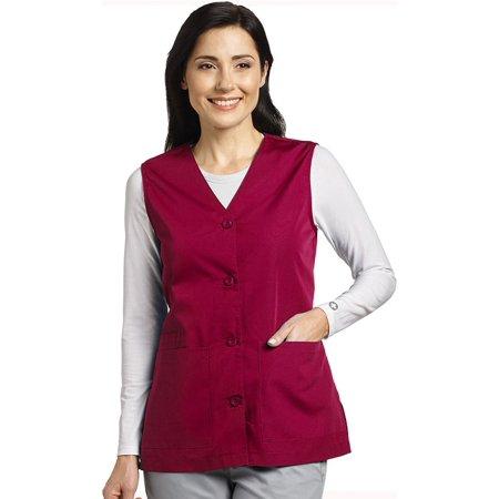 Marvella by White Cross Women's Button Front Solid Scrub - Scuba Vest