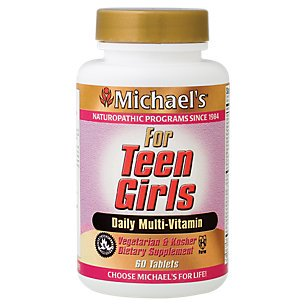 Girls Daily Multivitamin (Michael's Teen Girls Tabs Daily Multi Vitamin - 60 Vegetarian Tablets )