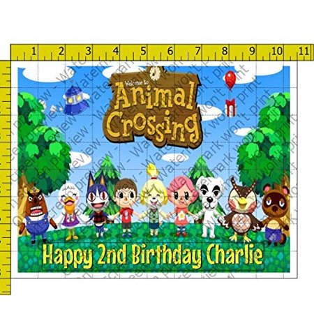Admirable 1 4 Sheet Animal Crossing Personalized Image Edible Frosting Cake Funny Birthday Cards Online Necthendildamsfinfo