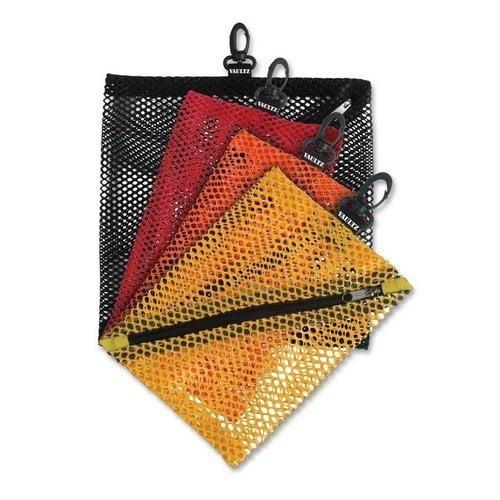 Vaultz Mesh Storage Bags, 4ct - Black/Red/Orange/Yellow