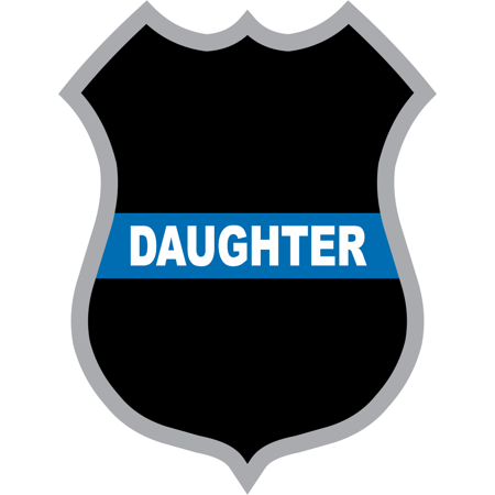 3.8 Inch Thin Blue Line Daughter Police Badge Decal