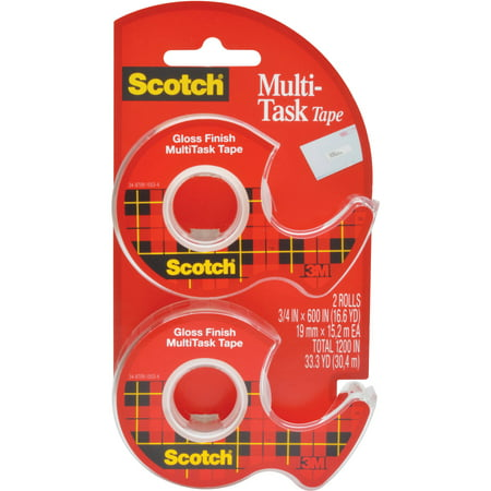 Scotch MultiTask Tape, 3/4 in. x 600 in, 2 Dispensers/Pack
