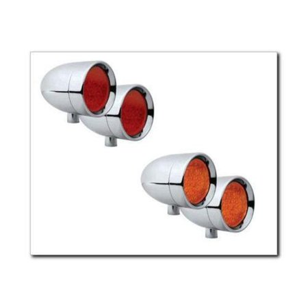 Adjure NS12016-A Beacon 1 Smooth 20 Watt Halogen Bullet Light - Amber Lens