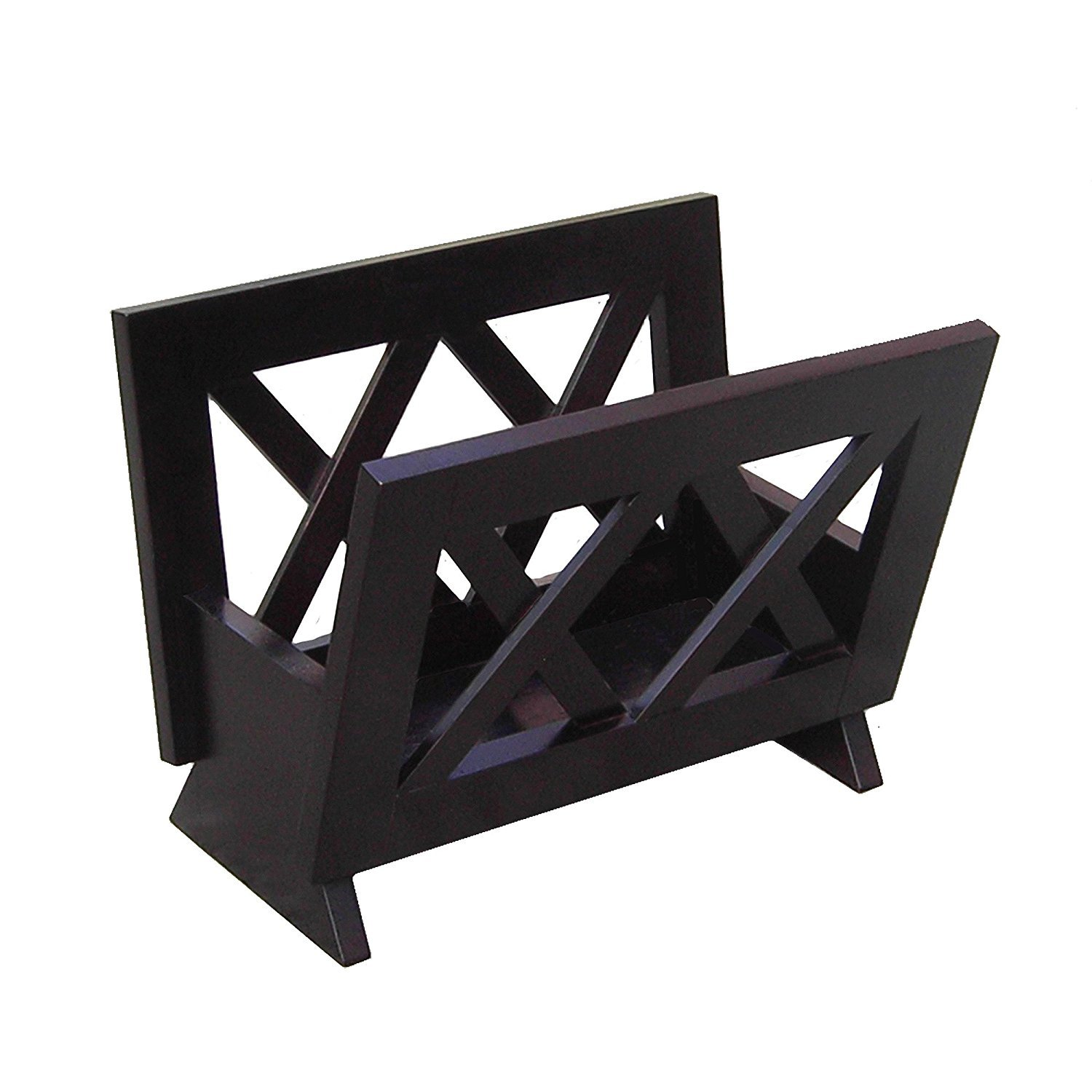 Oceanstar M1125 Contemporary Solid Wood Magazine Rack, Mahogany Finished by Oceanstar Design Group