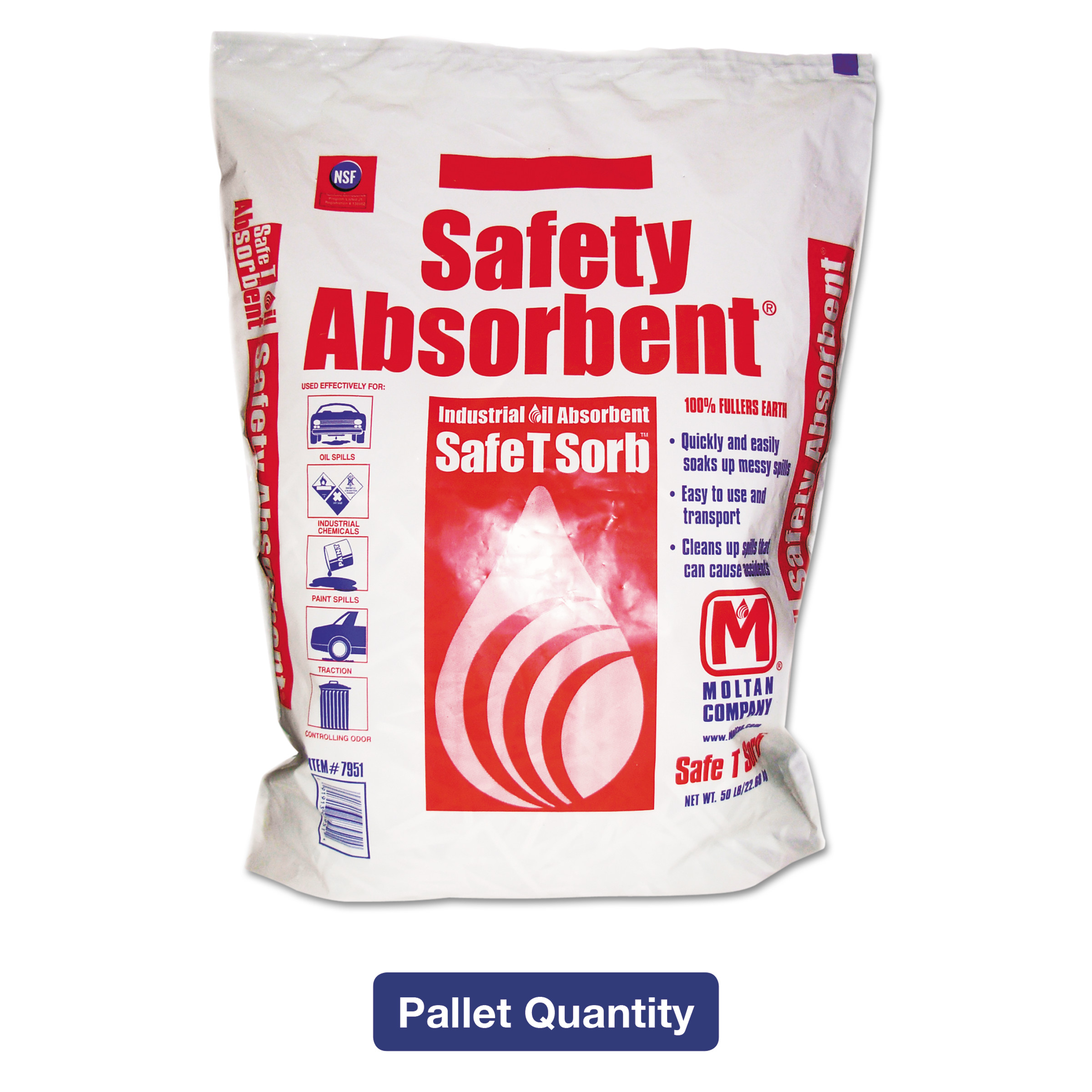 Safe T Sorb Safety Absorbent Industrial Oil Absorbent, 50 lbs