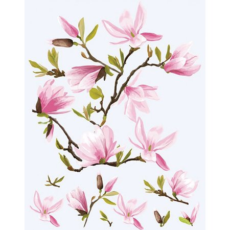 Dress My Craft Fabric Transfer Sheet 24X34cm-Magnolias - image 1 de 1