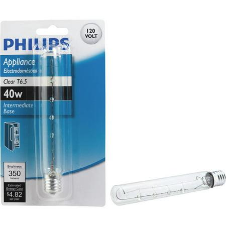 Philips Lighting Co 40w T6.5 Appliance Bulb 416297