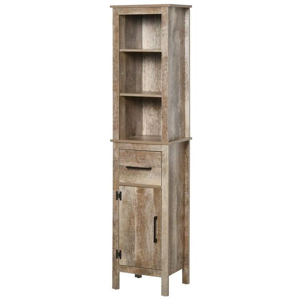 Kleankin Tall Bathroom Storage Cabinet, Tall Narrow Bathroom Storage Cabinet