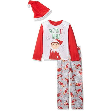 Elf On The Shelf Toddler Boys' or Girls' Unisex Family Sleep 1-Piece Pajamas - Toddler Elf
