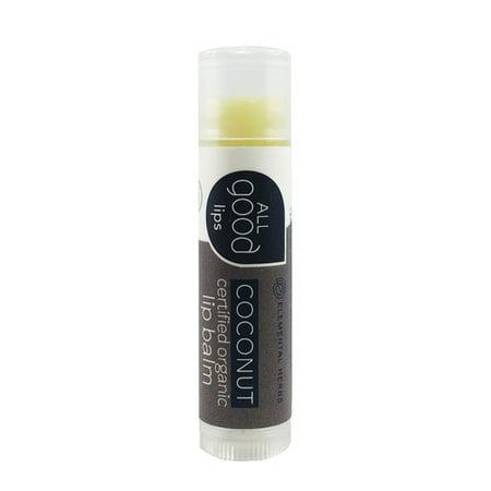 All Good Baume à lèvres certifié bio, noix de coco, 4,25 G