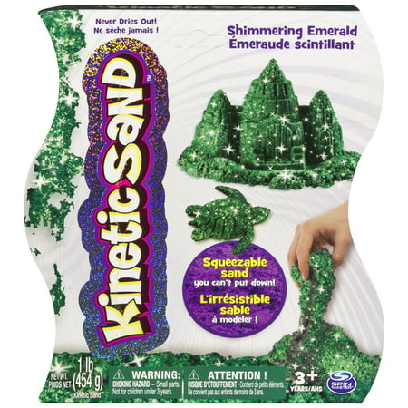 Kinetic Sand, 1lb Shimmering Emerald Green Magic Sand for Ages 3 and - Kinetic Sand Bulk