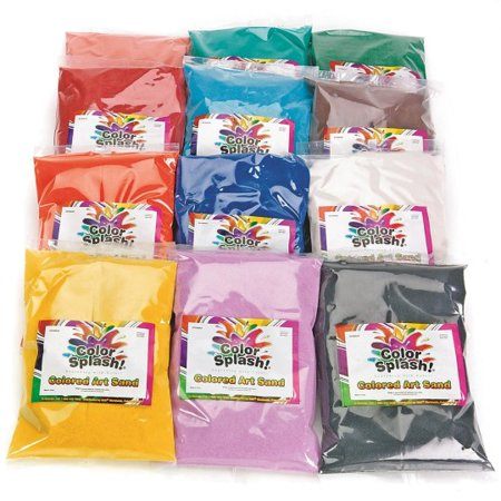 (Price/Pack of 12)S&S Worldwide Fine Terrarium Sand 24-lbs - 12 Colors