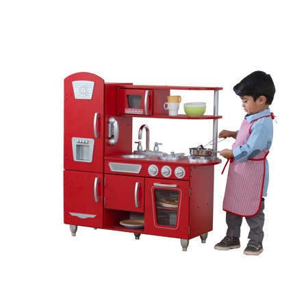 KidKraft Vintage Play Kitchen - Red - Walmart.com