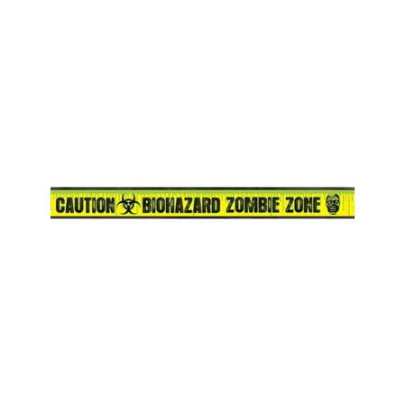 Biohazard Zombie Warning Caution Halloween Decoration Fright Tape - Fright Halloween