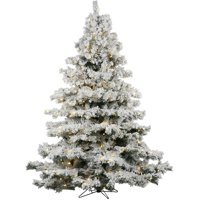 product image vickerman pre lit 3 flocked alaskan artificial christmas tree led warm white