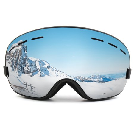 fa6f61c4ff8 Snowboard Ski Goggles Anti-fog UV Protect Mirror Lens Glasses Women Men  Windproof Skiing Riding ...