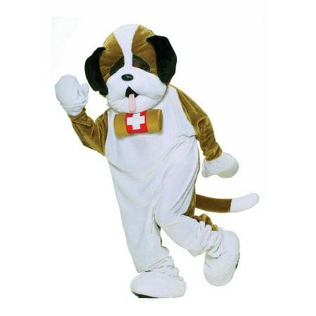 Forum Deluxe Plush Dog Mascot St Bernard Costume, Brown, One - Hot Dog Mascot