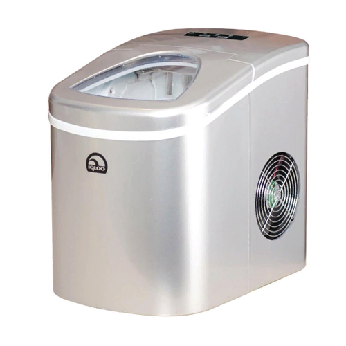 Igloo ICE108-SILVER Compact Ice Maker Silver - Manufacturer Refurbished
