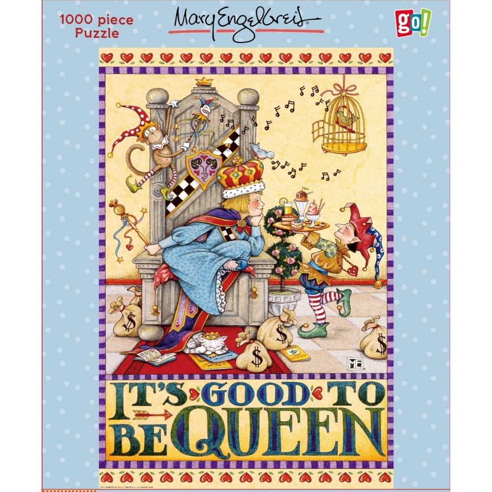 Engelbreit Its Good to be Queen 1000p,  Mary Engelbreit by Go! Games