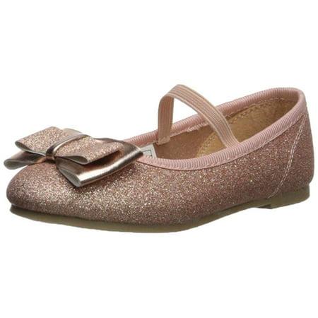 Vida Shoes International Kids' Carter's Bigbow, Rose Gold, Size 7 M Us Toddler