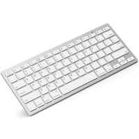 Slim Wireless Keyboard, Ergonomic Design,made of Durable ABS Material,for Windows, XP, Mac OS, Vista, Linux and , IOS System. SILVER