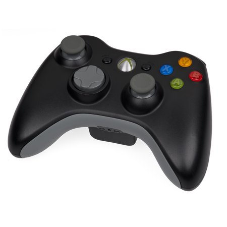 Refurbished Microsoft Official Xbox 360 Video Game Console Wireless Remote Controller Black (Microsoft Receiver Xbox 360)