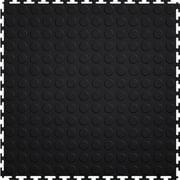 "Mats Inc. Protection Garage Interlocking Floor Tiles, Coin, Black, 20.5"" x 20.5"" x .25"", 8 Pack"