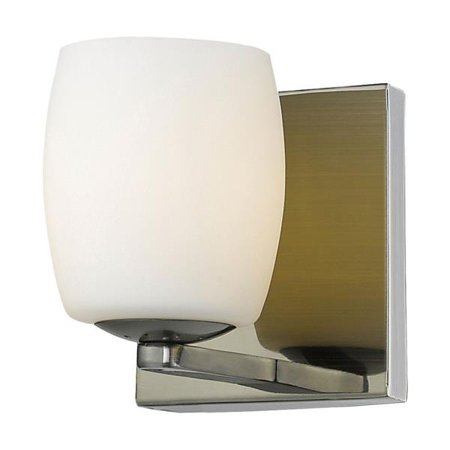 Access Lighting Serenity - One Light Bath Vanity, Antique Brass Finish with Opal Glass