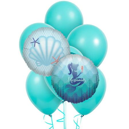 Mermaids Under the Sea 8 pc Balloon - Under The Sea Themed Balloons