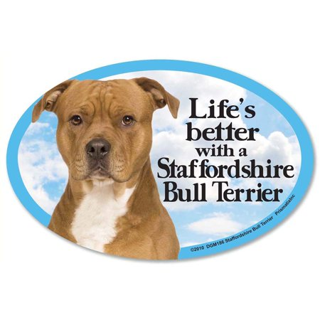 Prismatix Decal Cat and Dog Magnets, Staffordshire Bull Terrier
