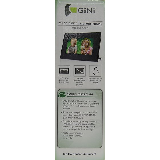 Giinii 7 Tech Digital Picture Frame Walmartcom