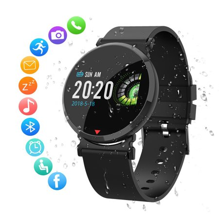 EEEKit Bluetooth Smartwatch IP67 Waterproof Fitness Tracker with All-Day Heart Rate and Activity Tracking, Sleep Monitoring, GPS, Bluetooth - (Best Fitness Tracker For Sleep Tracking)