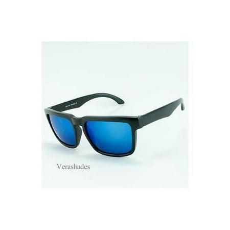Mens Celebrity Eyewear Flat Top Rectangular Sunglasses Black Frame (Mens Celebrity Fashion)