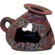 Exotic Environments Incan Vase Aquarium Ornament, Small Multi-Colored