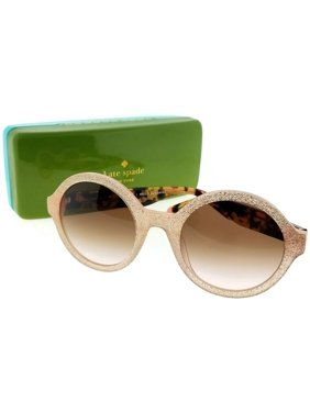 10f39b7faf599 Product Image Kate Spade KHRISTA-S-S2E-52 Women s Gold Frame Brown Lens  Genuine Sunglasses