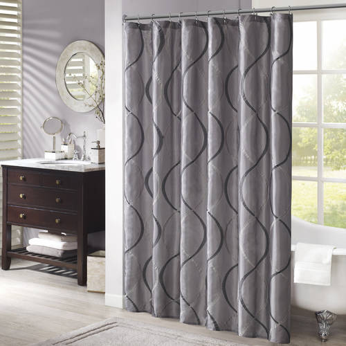 Home Essence Fenice Embroidered Ogee Shower Curtain by E&E Co.