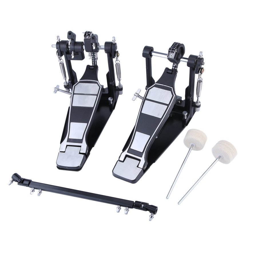 Classic Drum Pedal Dual Foot Kick Pedal Tension Spring And Single Chain Drive by OUTAD
