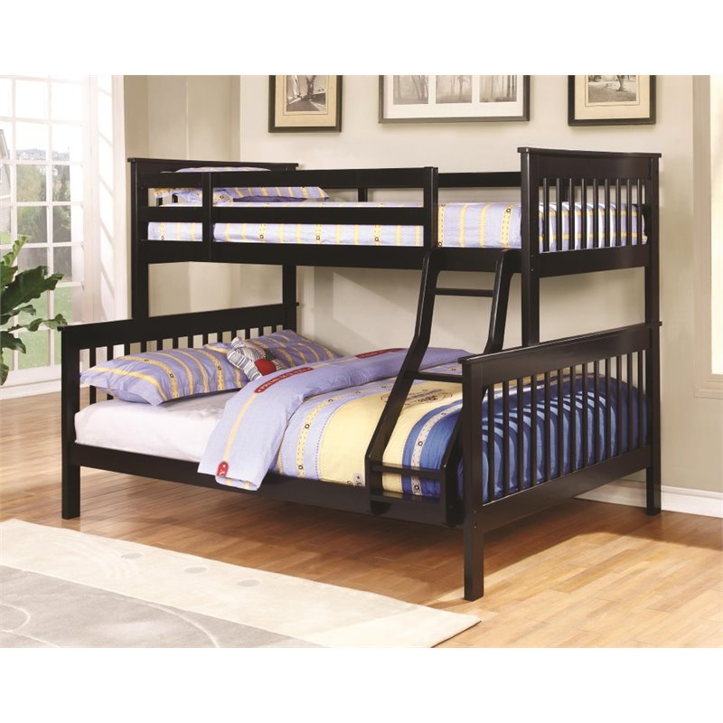 Coaster Twin Over Full Bunk Bed in Black
