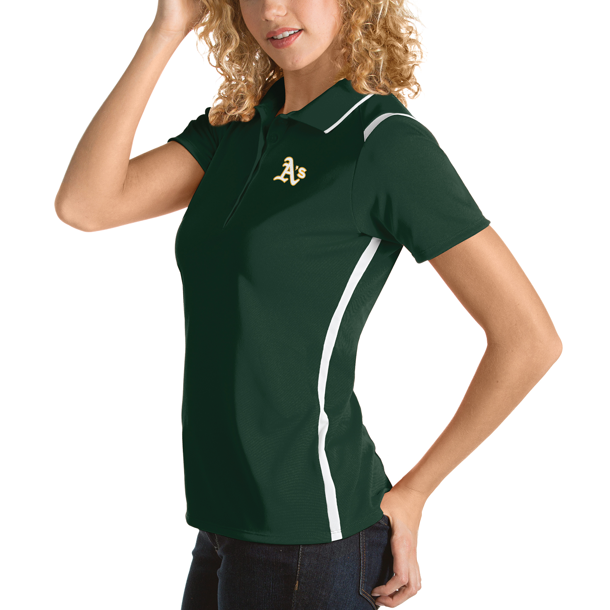 Oakland Athletics Antigua Women's Merit Polo - Green