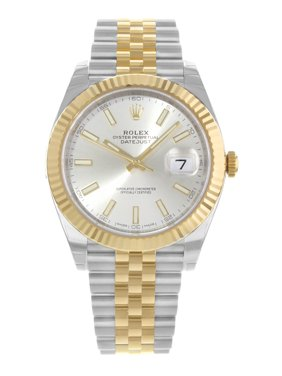 Rolex Datejust 41 126333 Silver Dial 18K Yellow Gold Steel Automatic Mens Watch