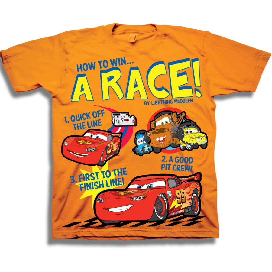 Cars A Race!Toddler Boy Short Sleeve Graphic Tee Shirt