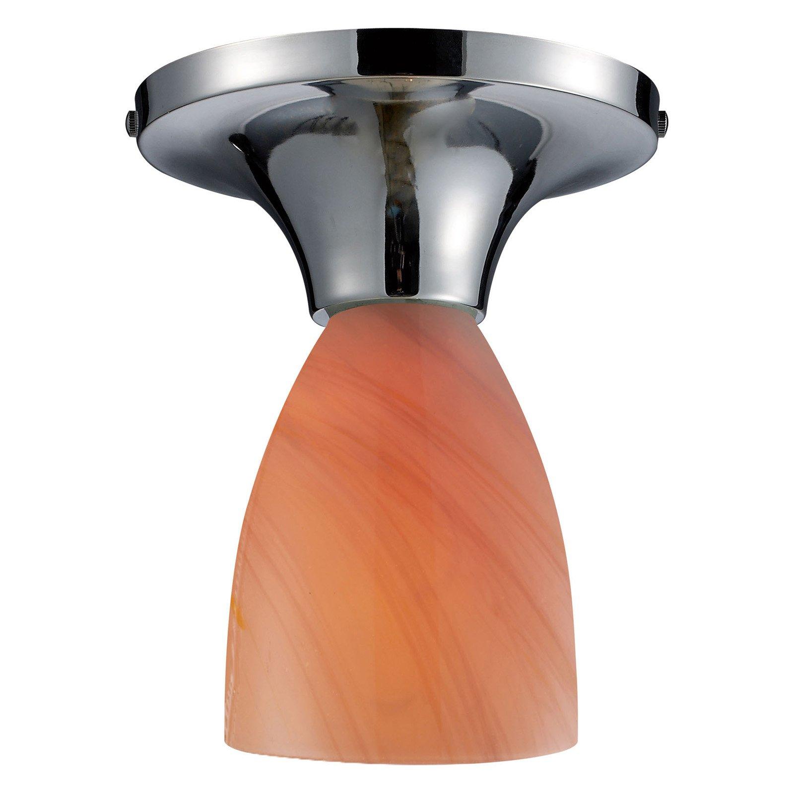 ELK Lighting Celina Sandy Glass Semi Flush Mount Light
