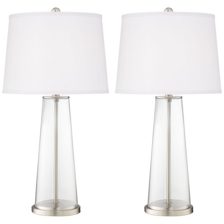 Color Plus Modern Table Lamps Set Of 2 Fillable Clear