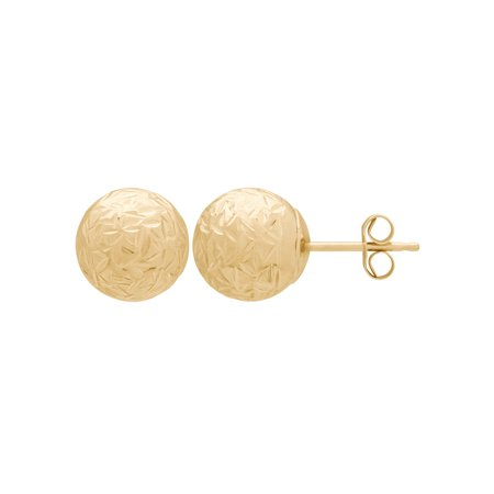 Simply Gold 10K Yellow Gold 8mm Ball Stud Earrings