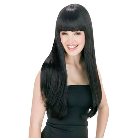 Wigs For Black Women Cheap (Cher Womens Pop Star Long Straight Black)