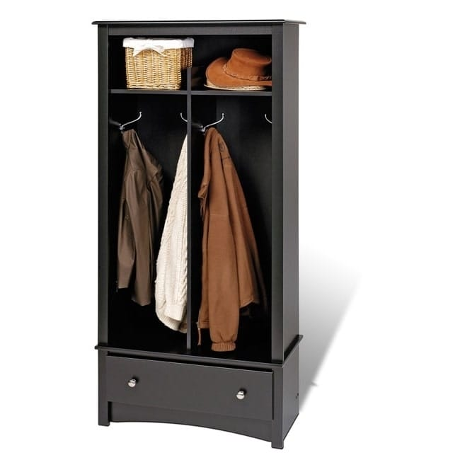 Prepac Broadway Black Entryway Organizer by Overstock