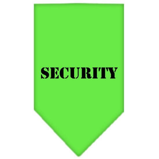 Mirage 66-70 SMLG Security Screen Print Pet Bandana Lime Green Small