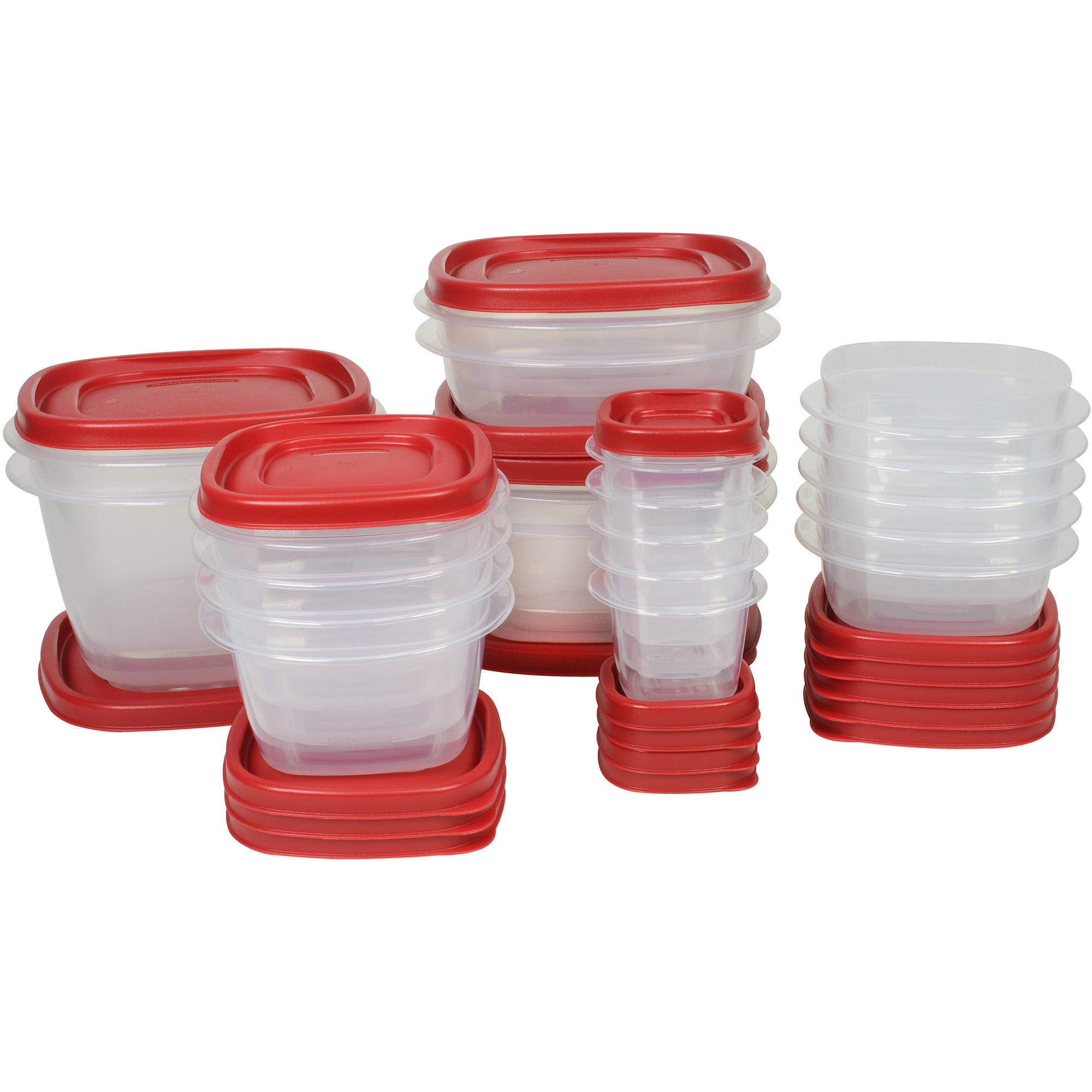 Rubbermaid Easy Find Lids Food Storage Container, 40-Piece Set, Red