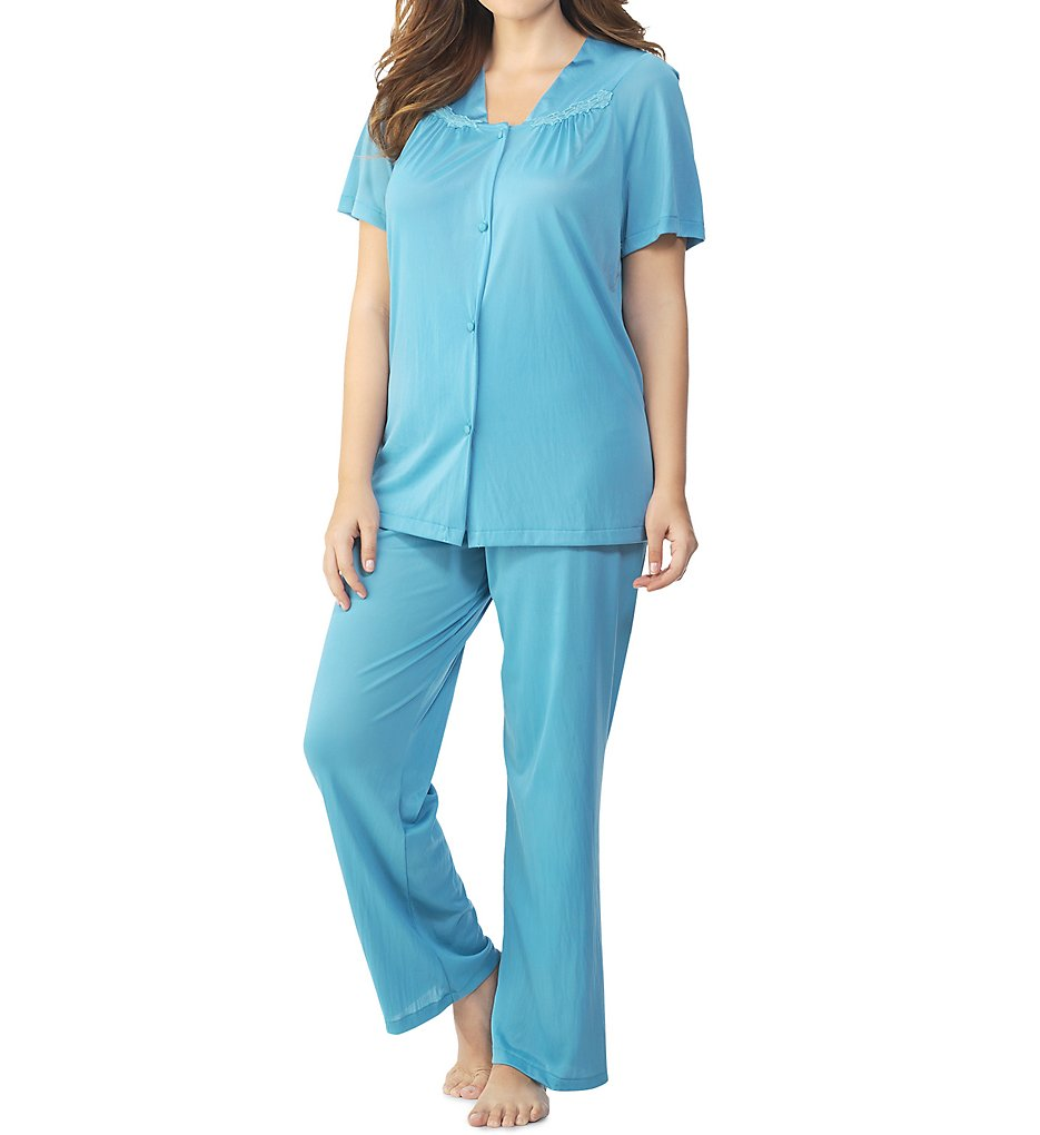 Vanity Fair Colortura Sleepwear Women`s Short-Sleeve Pajama Set, M -  Walmart