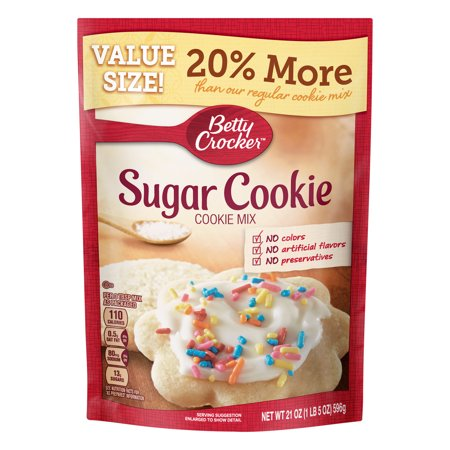 (2 Pack) Betty Crocker Value Size Sugar Cookie Mix, 21 oz Pouch